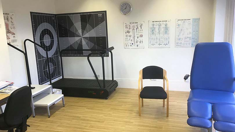 smaller physio treatment room